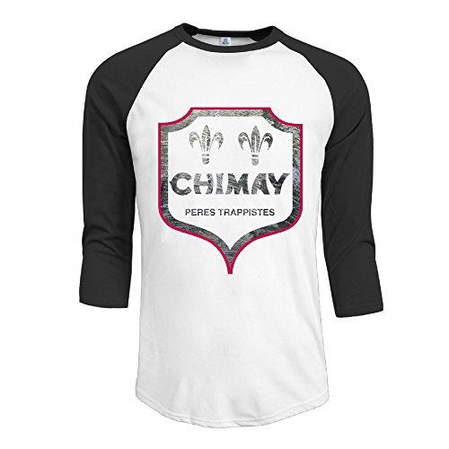 mens-chimay-brewery-casual-raglan-athletic-t-shirt-3-4-sleeve-baseball-jersey-black-xl