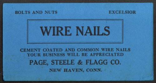 Page Steele & Flagg Wire Nail blotter New Haven CT 20s