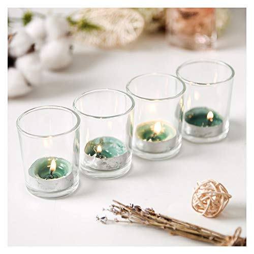 Supreme Lights Glass Votive Candle 12 Pack Tealight Holder Clear