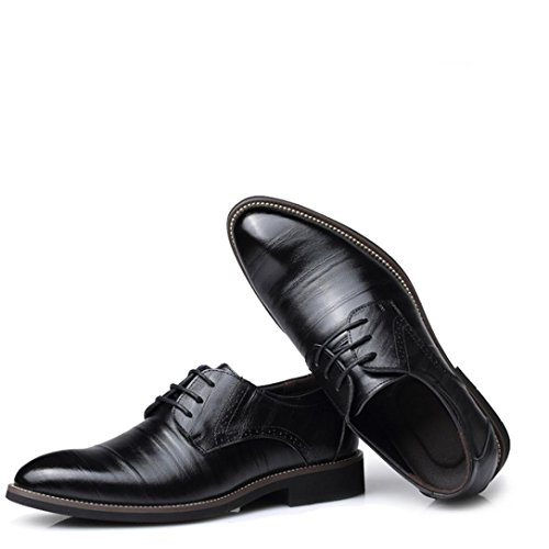 3288e12b820b6 2018 Mens Classic Leather Pointed Toe Oxford Lace Dress Shoes for ...