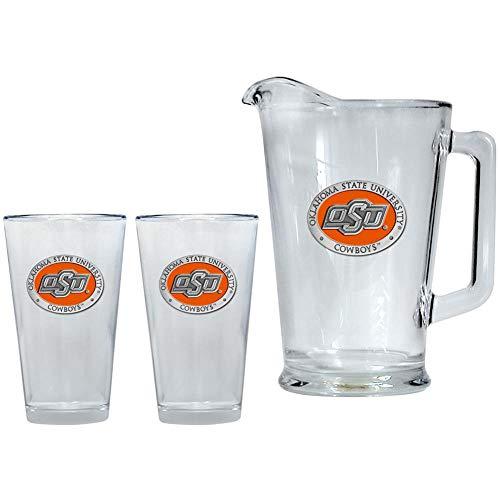 Heritage Metalwork Oklahoma State University Pitcher and 2 Pint Glass Set Beer Set