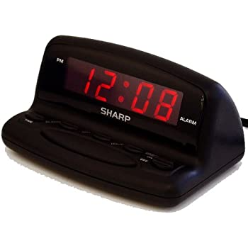 Amazon Com Sharp Spc106x Led Alarm Clock Black Home