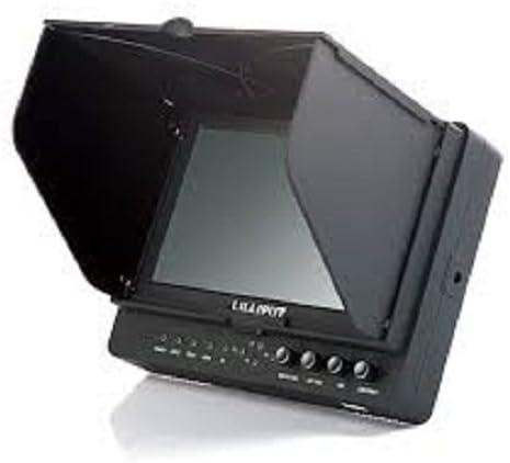 AV Sun Shade Cover Free Hot-shoe Mount// 4 NEW Function: Peaking Filter HD-SDI Input HDMI YPbPr Zebra Exposure Brightness Histogram HD-SDI Output // With F-970+/_LP-E6 Battery Plate Professional LILLIPUT 7 665//S//P HDMI False Color Filter