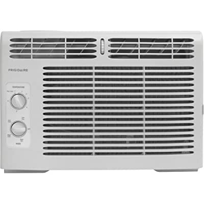 Frigidaire 5,000 BTU 150 Sq Ft, Mechanical Rotary Controls Window Air Conditioner, 115V Electrical Outlet, 6.5' 3-Prong Power Cord FFRA0511R1, White Color