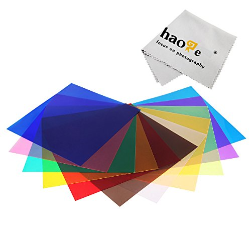 Haoge 11pcs Lighting Color Gel Flash Filter Kit for 7'' and 8'' Studio Strobe Light Reflector by Haoge