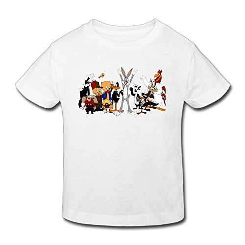 Radyk56rtyh Toddler's 100% Cotton The Bugs Bunny Show Funny T-Shirt White US Size 2 Toddler for $<!---->