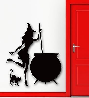 Wall Stickers Vinyl Decal Halloween Witch Cauldron Potion Kids Room VS717