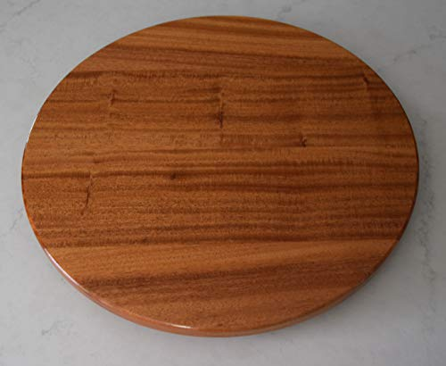 - 20 inch wood Mahogany Lazy Susan with a Natural finish