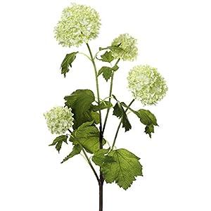 Allstate Club Pack of 12 Artificial Green Snowball Flower Sprays 55