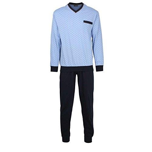 Götzburg Herren Nachtwäsche Zweiteiliger Schlafanzug, Pyjama lang, aus Baumwolle, Bedruckt, mit Bündchen