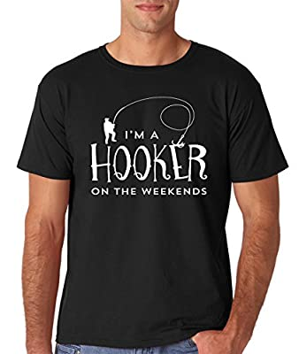 AW Fashion's Hooker On The Weekend - Funny Fishing Premium Men's T-Shirt