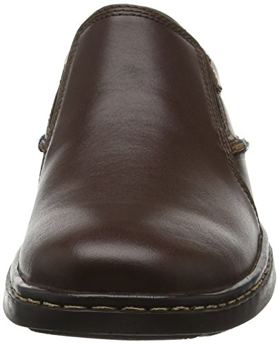 Hush Puppies Alan Hanston, Mocasines para Hombre Marrón - Brown (Dark Brown Leather)