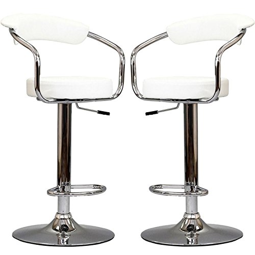 Diner Bar Stools Set of 2 in White