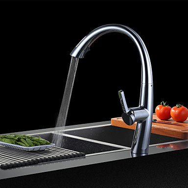 Centerset Single Handle One Hole with Chrome Kitchen faucet by Zheng