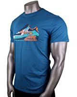 Nike Men's Air Max 90 Pop Art T-Shirt Ocean Blue Teal Orange Premium 836103 469