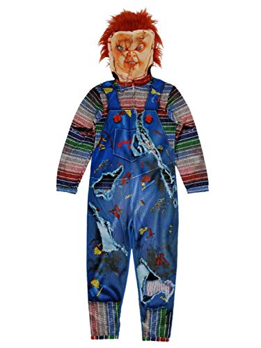 Briefly Stated Chucky Childs Play Mens Full Zip Costume Union Suit Pajamas Small