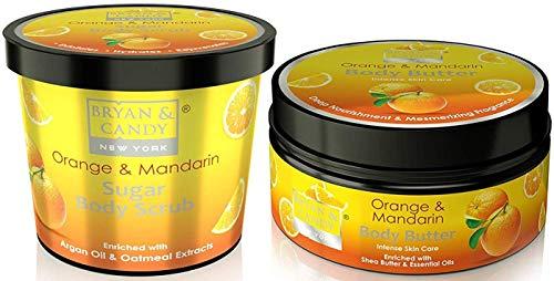 Bryan & Candy New York Body Polishing kit, Skin Care Combo, Orange & Mandarin Sugar Body Scrub 100gm, Body Butter 100gm…