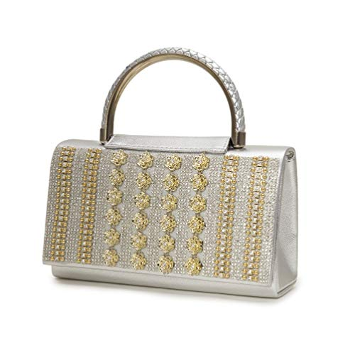 Style22 evening handbags handle Women for shoulder bag gold Vintage ladies crystal Bag bags diamonds clutch 4Bcq6w