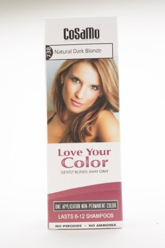 CoSaMo Love Your Color Hair Color 738 Natural Dark Blonde (Pack of 3)