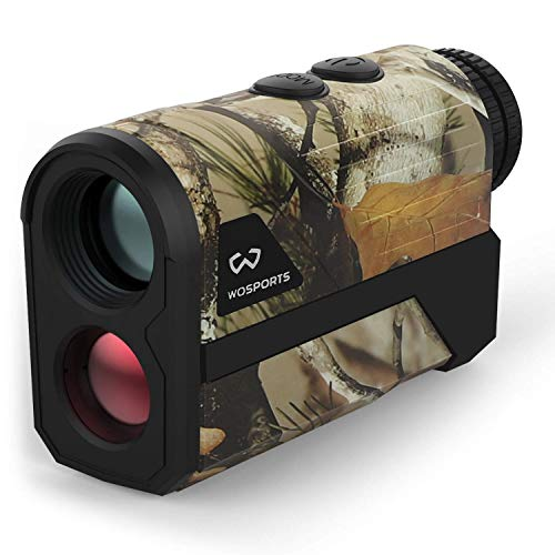WOSPORTS 1000 Yards Hunting Rangefinder,Archery Rangefinder - Laser Range Finder for Hunting Golf with Speed, Scan and Normal Measurements (Yards Hunting-H100GM)