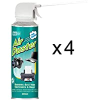 4 x Dust-Air 400ml Compressed Air Duster Can for Fans PC Laptop Camera CFC Free 4X