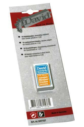 DAVID PLANE COMBI & FINISHER REPLACEMENT BLADES (PACK OF 10) DOUBLE EDGED FERMAX 647157