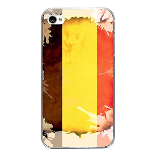 """Disagu Design Case Coque pour Apple iPhone 4s Housse etui coque pochette """"Belgien"""""""