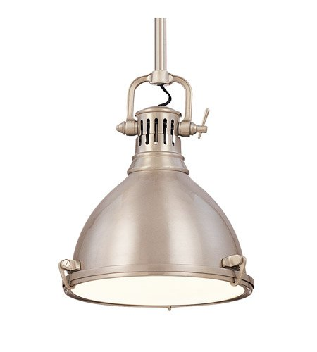 Hudson Valley Lighting 2210-SN One Light Pendant from The Pelham Collection, 12