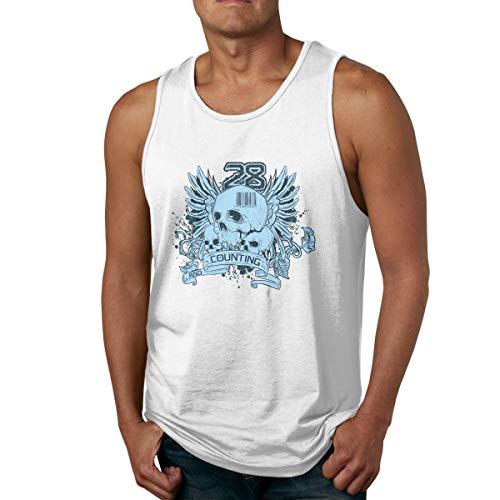 Men's Tank Tops Gym Vests Shirt Blue Wings