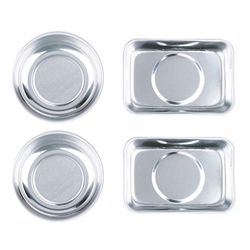 - HORUSDY 4-Piece Magnet Trays Set, Round/square Magnetic Trays Tools Parts Tray Holder