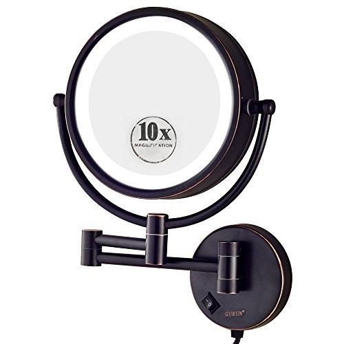 gurun-85-inch-led-lighted-wall-mount-makeup-mirror-with-10x-magnificationoil-rubbed-bronze-finish-m1