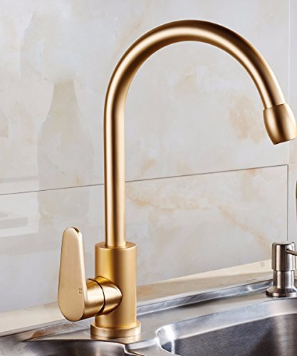 SUNQIAN-Gold kitchen faucet, kitchen faucet, sink faucet, cold and hot water tap by SUNQIAN (Image #5)