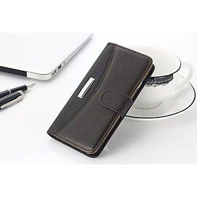 Fundas y estuches para teléfonos móviles, Grano litchi negocio& Ranura para tarjeta de cuero genuino caballo loco y estar caja de la carpeta para el iphone 6 más& 6s ( Color : Blanco ) Blanco