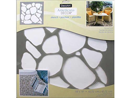 DecoArt DECADS-K.407 Decor Stencil 18x18 Stonpath Americana Decor Stencil 18x18 Stone Path