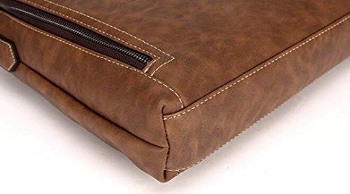 Negocios Del Computadora Caja Skim Bolso De Retro Pack Bag Orange Hombro La Cuero Hombres HwqECzEA