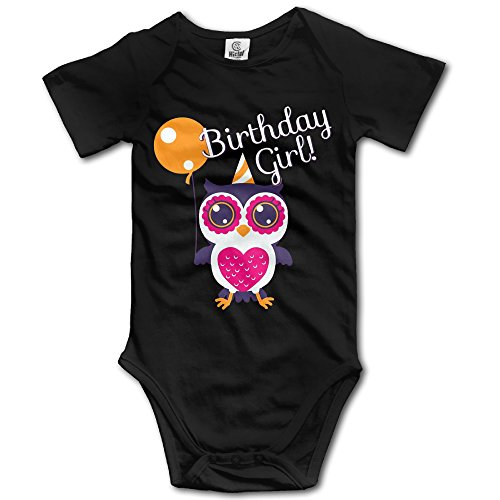 Birthday Girl Owl Organic Onesies Bodysuit in 4 Sizes