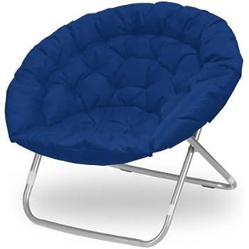 blue plush saucer moon chair adult size kitchen dining. Black Bedroom Furniture Sets. Home Design Ideas