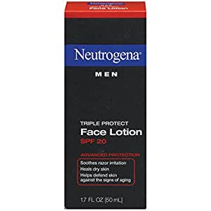 Neutrogena Triple Protect Face Lotion for Men, SPF 20, 1.7 Ounce (Pack of 2)