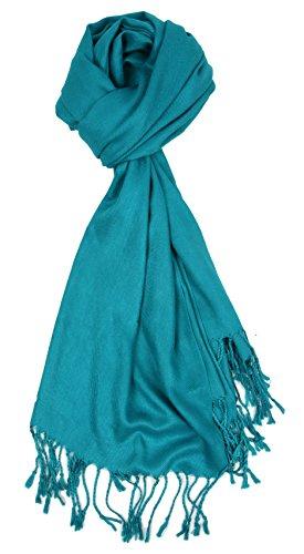 teal blue scarf - 4