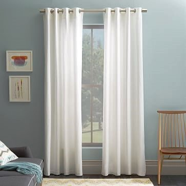 Gorgeous Home *Different Colors and Sizes* 1 Faux Silk Window Curtain Panel Width 55″ X 63″84″95″108″ Length Solid Includes 8 Bronze Grommets (84″ Length, White)