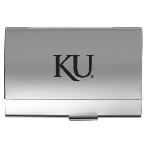 University of Kansas - Two-Tone Business Card Holder - (Kansas University Desk)