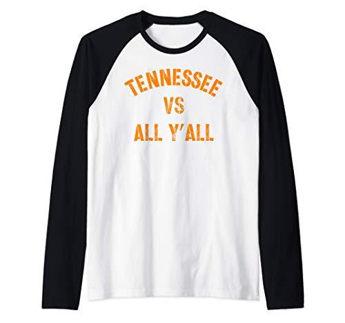 Tennessee Football VS All Yall T-shirt Knoxville Raglan Baseball Tee