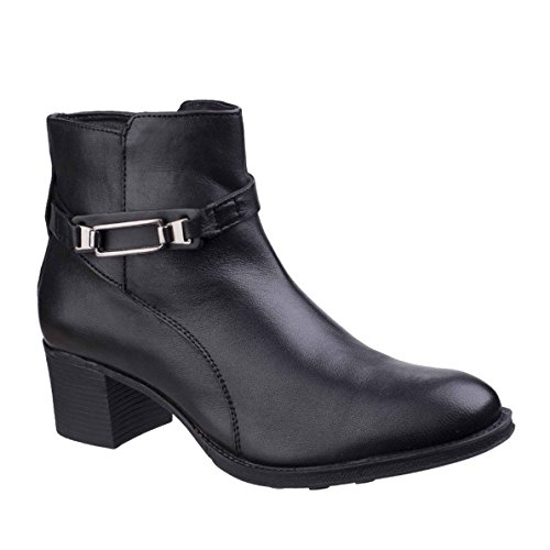 ladies Black amp; Boots Leather Ankle Zip Canterbury Foster Womens Fleet Up qTFnZtZ