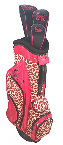 Birdie Babe Women Red Leopard Golf Hybrid Bag with Headcovers