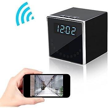 Wireless Spy Hidden Camera, Corprit 1080P WiFi Home Security Camera Table Clock Nanny Cam