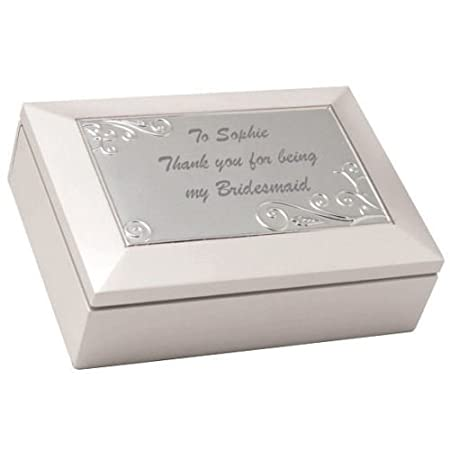 Personalised White Multi Compartment Jewellery Trinket Box Any