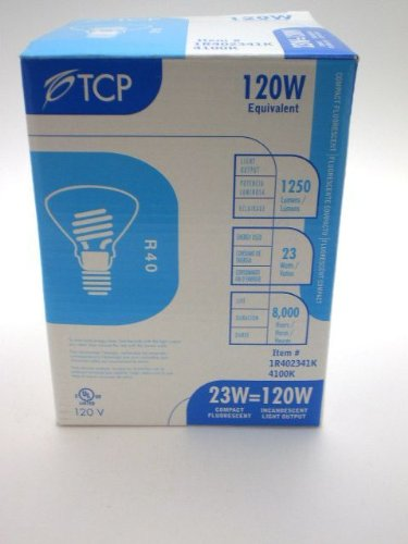 TCP 1R402341K 23W 120V 4100K 1100 Lumens Non-Dimmable Indoor/Outdoor CFL R4(Pack of 12) ()
