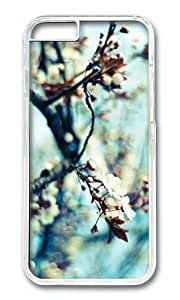 MOKSHOP Adorable branch spring blooms Hard Case Protective Shell Cell Phone Cover For Apple Iphone 6 Plus (5.5 Inch) - PC Transparent