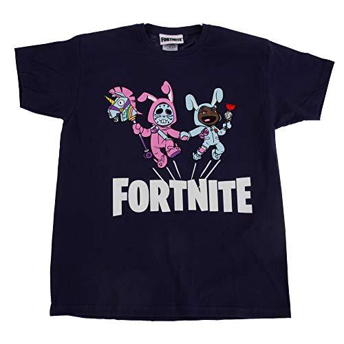 41TENSpg6jL. SS500 Camiseta de Fortnite. Cuenta con impresión gráfica de Rabbit Raider y Bunny Brawler. 100% Algodón