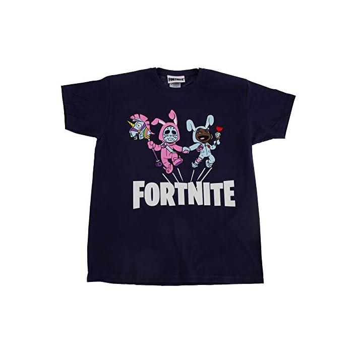 41TENSpg6jL Camiseta de Fortnite. Cuenta con impresión gráfica de Rabbit Raider y Bunny Brawler. 100% Algodón